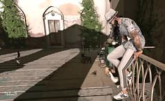 No me dejes así (Sadwolf SL Photos) Tags: equal10 tmd themancave chuchsize etham nativeurban cigar farm hacienda chiken cat shirt hat shades glasses sneakers jogger pants white balcony watch