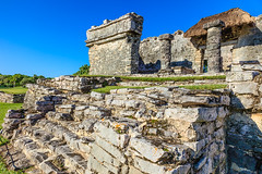 Mexico-131129-552 (Kelly Cheng) Tags: maya mayan mexico northamerica tulum yucatán architecture blue bluesky building color colorful colour colourful culture day daylight heritage landscape outdoor ruins sunny sunshine tourism travel traveldestinations vivid