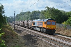"GB Railfreight Class 66/7, 66782 (37190 ""Dalzell"") Tags: gbrf gbrailfreight hectorgroup europortelivery gm generalmotors shed bluebird class66 class667 66782 66046 boarshead wigan"