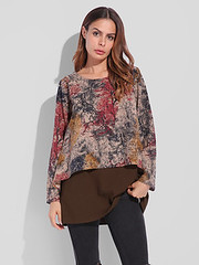Gracila M-5XL Women Printed Double layered Blouse (1235224) #Banggood (SuperDeals.BG) Tags: superdeals banggood clothing apparel gracila m5xl women printed double layered blouse 1235224