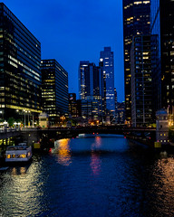 Chicago River (RW Sinclair) Tags: 128 28 2018 35mm af august chicago ilce ilce7m2 rokinon samyang summer a7 a7ii digital f28 mk2 prime sony river cityscape water boat skyscraper