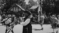 DSCF1802 (asnakeofjune) Tags: green renfaire wisconsin kenosha bristol 2018 august summer hot fujifilmx100f x100f fuji blackandwhite bw acros jousting knight sword renaissancefaire