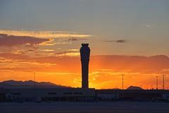 Sunrise Behind McCarran's FAA Tower (Jslark91) Tags: sky 18400mm tamron aircraft lasvegas aviation nikon airport nevada sunrise sun landscape morning clarkcounty tower lv d5600 las 2018 clark nv solar airplanes mccarran county vegas