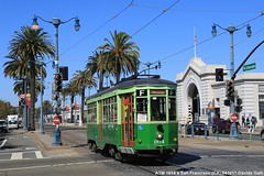 SFMTA 1814 (Davuz95) Tags: trolley san francisco streetcars atm milan milano ex muni line f e peter witt grenn green castro