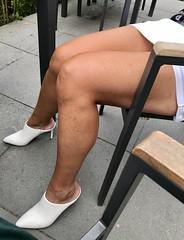 MyLeggyLady (MyLeggyLady) Tags: sex hotwife milf sexy secretary teasing thighs upskirt leather cfm mules stiletto legs heels