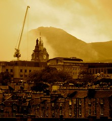 Auld Reekie (Edinburgh Photography) Tags: city skyline sepia monochrome documentary edinburgh nikon d7000