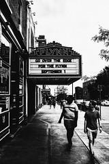 What's Playing (matthewjaymartin) Tags: black white street photography flynn theater bu burlington vermont vt