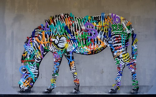 Graffiti zebra