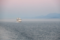Follow the Leader (Anthony Mark Images) Tags: water ocean pacificocean foggy mist mountains cruiseship princesscruiselines following ship nikon d850 britishcolumbia canada