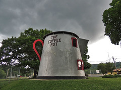 Giant Coffee Pot (George Neat) Tags: coffee pot fairgrounds bedford county buildings structures historical old history georgeneat patriotportraits pa pennsylvania