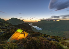 Hard Day's Night (Steve Clasper) Tags: haystacks lakedistrict tent wildcamping wildcamp buttermere crummockwater vista views landscape steveclasper sony