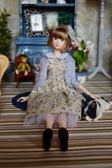 "Fiona (Girl Least Likely To) Tags: ""lacymodernist"" fiona momoko sekiguchi closeclippedsheep asianfashiondolls dollhouse dollscene dollroom diorama miniatures 16 dolls toys"