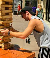 Jenga guys (LarryJay99 ) Tags: jenga man men guy guys dude male studly manly dudes handsome faces facial facialhair friends peeking peekingpits hairyarms caps youngguys youngmen glasses shades sleevless sleevelessshirts shirts jeans shorts arms armpits hairypits pits handoms