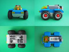 CS Lunar Lorry (David Roberts 01341) Tags: lego technic classicspace lorry truck transport transporter cargo scifi allterrain moon minifigure minifig powerfunctions remotecontrol blue grey toy
