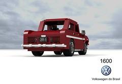 Volkswagen do Brasil 1600 Sedan (lego911) Tags: vw volkswagen 1600 sedan saloon 1970 1970s classic do brasil brazil brazillian e97 boxer pancake type1 beetle south america auto car moc model miniland lego lego911 ldd render cad povray coffinjoe