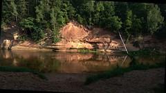 Velnala cliff in the Gauja national park (Sigulda, Latvia, 20180809) (RainoL) Tags: 2018 201808 20180809 august summer latvija latvia sigulda siguldasnovads river cliff sandstone clint velnalaclint velnalaclintis gaujasnacionālaisparks gaujanationalpark nationalpark water vidzeme