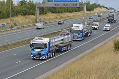 WS Transportation convoy (panmanstan) Tags: scania wagon truck lorry commercial abnormalload freight steel transport haulage vehicle escort a1m fairburn yorkshire