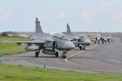 (scobie56) Tags: saab gripen raf royalairforce lossiemouth lossie swedish air force german exercise joint warrior panavia tornado luftwaffe