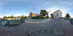 Holzmodell an der Bastion Cleve (360 x 180) (diwan) Tags: germany deutschland sachsenanhalt saxonyanhalt magdeburg city stadt place bastioncleve holzmodell woodenmodel magdeburgerdom cathedral kopfsteinpflaster cobblestone himmel sky heisluftballon hotairballoon morgens inthemorning outdoor roundabout equirectangular panoramix 360° spivpano panorama stitch ptgui google nikcollection plugins viveza2 fisheye canonef15mmf28fisheye canoneos5dmarkiv canon eos 2018 geotagged geo:lon=11635450 geo:lat=52123663