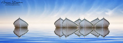 Odd One Out (brian.m.denton) Tags: oddoneout seven boats reflection serenity tranquillity blueandwhite minimalist briandenton waterscape timecapturer wwwtimecapturercom sonya850dslr