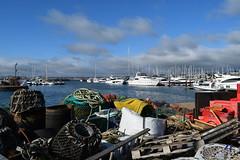 Lobster Pots and Luxury Yachts (davidvines1) Tags: torquay marina yacht boat sea sky lobsterpot