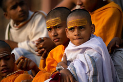 "Novice Hindu Monks In Varanasi (El-Branden Brazil) Tags: varanasi india indian ganges ganga ceremony hindu hinduism asian asia sacred holy mystical ""south asia"" sadhu"