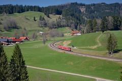 RE 3987 @ Oberthalhofen (Wesley van Drongelen) Tags: db deutsche bahn serie série reeks type reihe rh baureihe br 612 neigezug re regional express allgau allgäu allgaeu trein train zug oberthalhofen