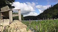 Adirondack Peace (Tim Loesch) Tags: newyork ny lake bench clouds timelapse adirondacks