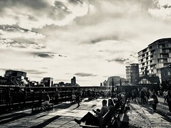 Late Summer Sunsets - black and white (LeRouxster) Tags: travelphotography travel streetphotography street walk toweroflondon towerbridge britain bnwphotography blackandwhite bnw unitedkingdom uk england london hot shotoniphone iphoneography sun sunset summer