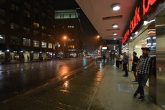 Toronto Swamped By Torrential Rains .... Toronto, Ontario, Canada (Greg's Southern Ontario (catching Up Slowly)) Tags: torontoist weather weatherphotography rain downpour torrentialraintoronto yongeandcarltonstreets urban city people night nightphotography