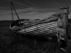 Wrecked Fishing Boat (davepickettphotographer) Tags: wreck wrecked marshland coast holme norfolk thornham boat fishing