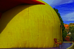 I am the Eggman, Koo Koo Ka Joob (oybay©) Tags: sedona arizona dome domehome home color colors outrageous colorful bright different rbuckminsterfuller architecture design spaceforce spacefarce space domeiswheretheheartis trees round oval xanadu tree sky grass