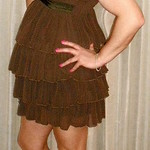 brown party dress thumbnail
