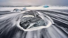 _DSC4762 blend 4764 copy (kaioyang) Tags: jokulsarlon diamondbeach iceland sony a7r2 voigtlander ultrawide heliar 15mm composite