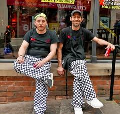 taking a break (Mr Ian Lamb 2) Tags: chefs cooks workers teabreak smoke drink smile smiling people street uniform turkish