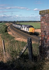 37719, Bayston Hill, Shropshire, August 1989 (David Rostance) Tags: 37719 class37 englishelectric baystonhill shropshire