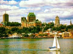 Quebec City (corineouellet) Tags: châteaufrontenac château nature landscape river boat cityscape city canada quebec oceanview
