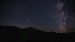 Our Journeys End (OX.ART) Tags: art astro landscape night milkyway stars mountain trees falling star fallingstar perseiden planet mars