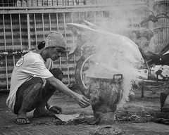 Tea Anyone? (Beegee49) Tags: street man boiling cooking pot steam bacolod city philippines