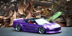 Honda NSX type R (vitaraman) Tags: honda nsx type r tamiya aoshima ssr sp1 metallic violet recaro stanced wide body rocket bunny scratchbuild engine cover