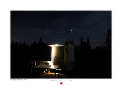 My Converted Cargo Trailer at Night in Leadville, CO (nomadhappyyes) Tags: cargo trailer van rv tent conversion nomad life living lifestyle gypsy hobo tramp tiny house home wheels rubber leadville colorado co travel wander stars sky night