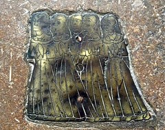 Stamford - St John the Baptist Church (Glass Angel) Tags: memorialbrass brass stamford lincolnshire stjohnthebaptistchurch churchconservationtrust