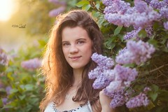 Maya, Class of '18 (Kristin Small Photography) Tags: girl pretty lilacs flowers spring wisconsin highschoolsenior senior kristinsmallphotography seniorphotographer light sun goldenhour