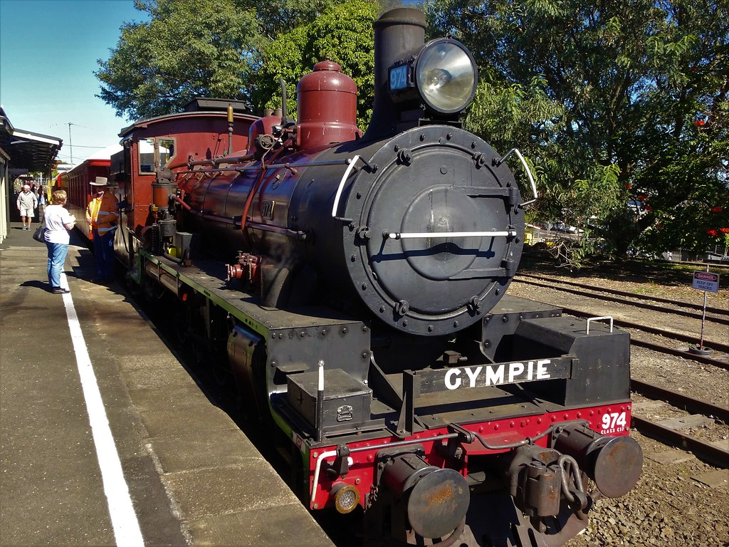Gympie. The Mary Valley Rattler train in Gympie railway station.