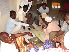 Local experts from nothern Kenya map livestock routes for input into spatial planning. (photo credit: ILRI/Lance W. Robinson). (International Livestock Research Institute) Tags: kenya spatial planning rangeland