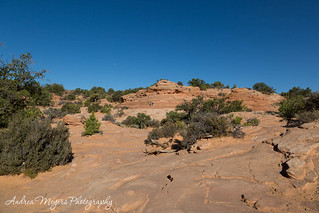 The overlook area at Mesa Arch, Canyonlands National Park