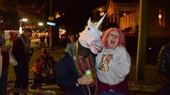 Horsing Around (BKHagar *Kim*) Tags: bkhagar mardigras neworleans nola la parade celebration people crowd beads outdoor street napoleon uptown unicorn horn head me pink hair