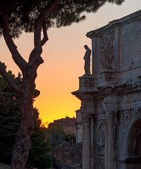 Roman_ruins-EXPLORED (Riddhish Chakraborty) Tags: roman ruins colosseum sunset history italy landmark travel archofconstantine