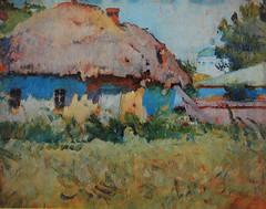 Художник Петро Левченко. Блакитні тіні. Хата. Зміїв. 1915.