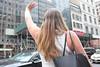 Hailing a taxi (kevin Akerman) Tags: woman hailing cab taxi new york